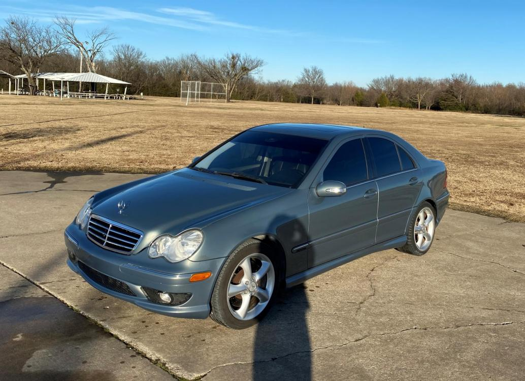 2005 GRAY Mercedes-Benz C-Class C230 K Sport Sedan (WDBRF40J65F) with an 1.8L L4 DOHC 16V SUPERCHARGED engine, located at 17760 Hwy 62, Morris, OK, 74445, (918) 733-4887, 35.609104, -95.877060 - Photo #0