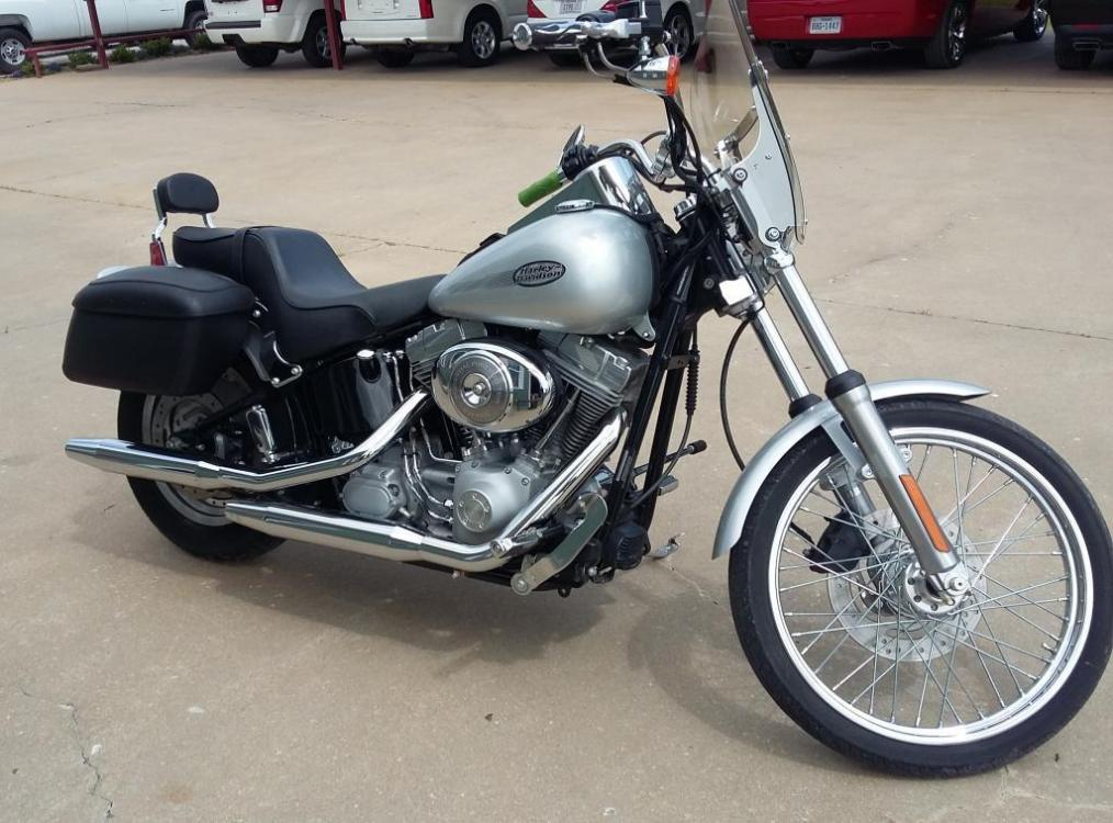 2004 Silver Harley-Davidson Softail Standard (1HD1BVB164Y) with an 1500cc engine, Standard transmission, located at 17760 HWY 62, MORRIS, 74445, 35.609104, -95.877060 - Photo #0